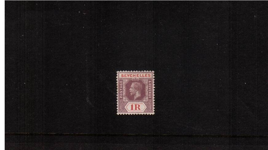 1R Dull Purple and Red - Watermark Multiple Crown CA<br/>A fine lightly mounted mint single.<br/><b>QCQ</b>