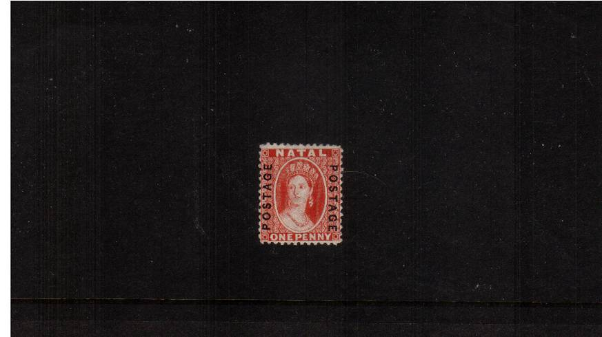 1d Bright Red overprinted on both sides ''POSTAGE''<br/>