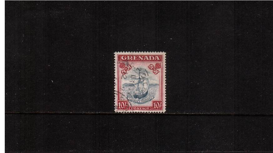 10/- Slate-Blue and Carmine-Lake (wide) Perforation 14<br/>