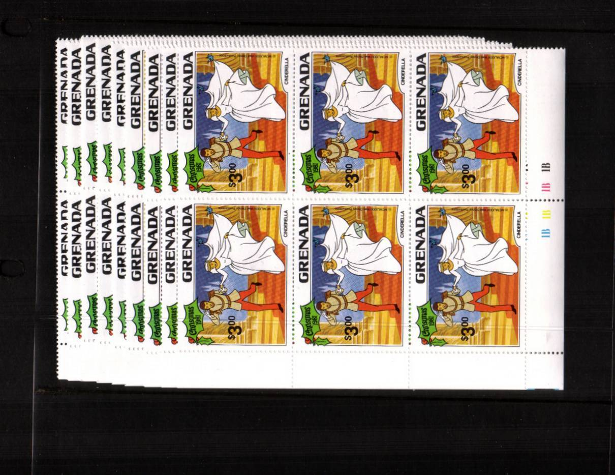 Disney - Christmas<br/> The set of nine in superb unmounted mint cylinder blocks of six.