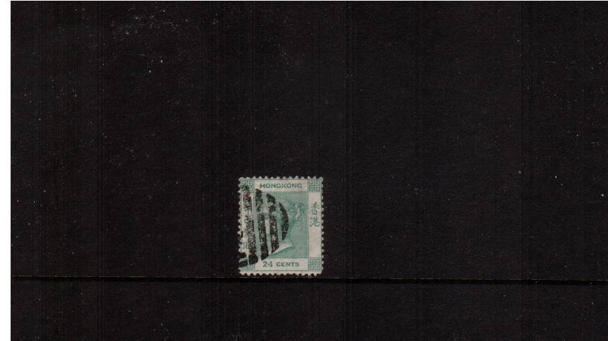 24c Pale Green - Watermark Crown CC<br/>A good fine used single