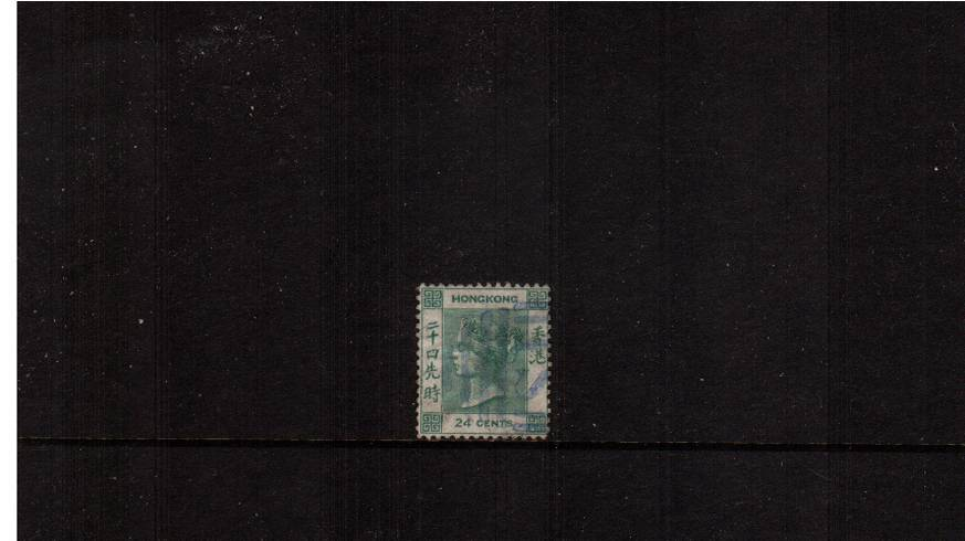 24c Green - Watermark Crown CC<br/>A lovely good used single. SG Cat  �