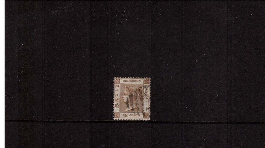 48c Brown - Watermark Crown CA<br/>A fine used single but with a tiny fault. SG Cat �0