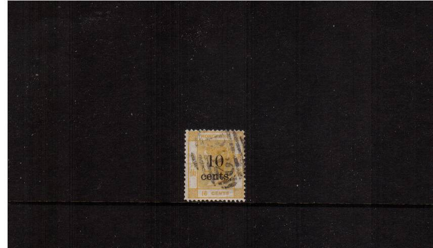 10c on 16c Yellow<br/>