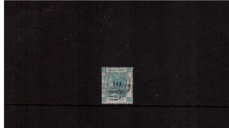 10c on 24c Green<br/>