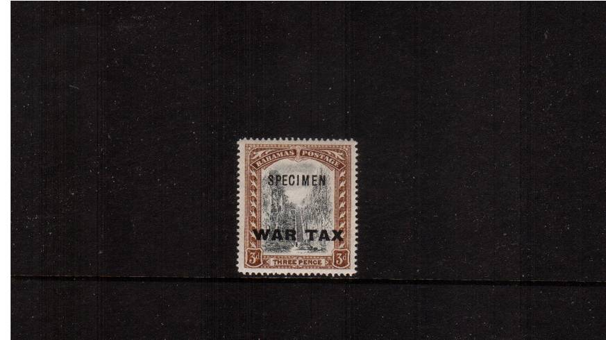 3d Black and Brown overprinted ''WAR TAX''.<br/>