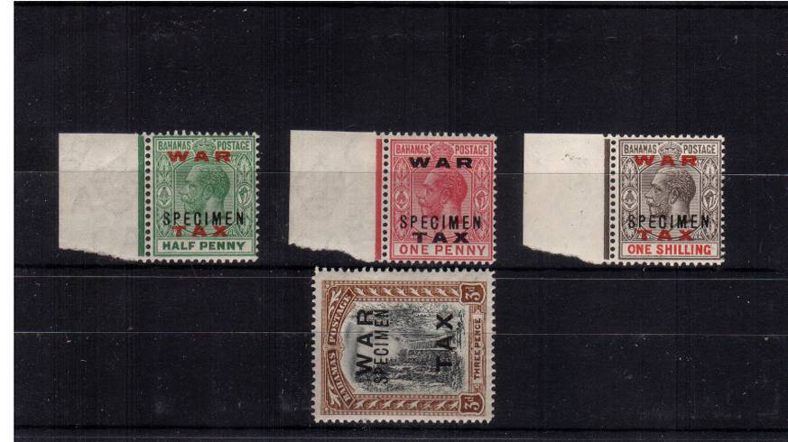 The ''WAR TAX'' set of four superb unmounted mint.<br/>