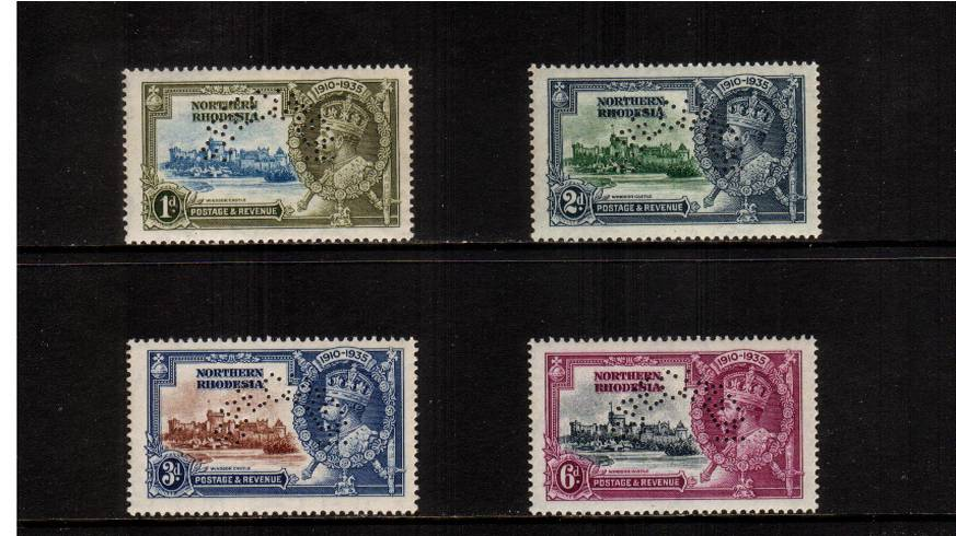 Silver Jubilee set of four perfined ''SPECIMEN'' superb UNMOUNTED MINT. A rare set to find unmounted, possibly unique.