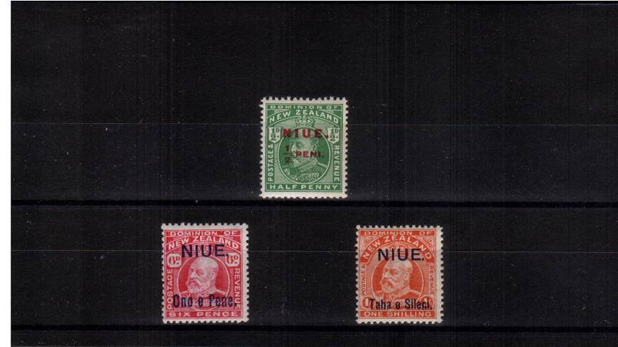 The surcharged set of three superb unmounted mint.