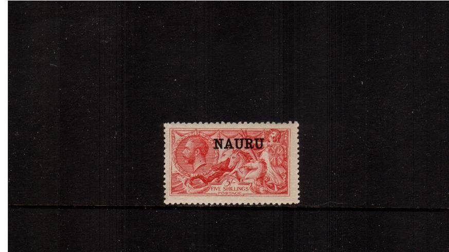 5/- Bright Carmine - De La Rue Printing<br/>