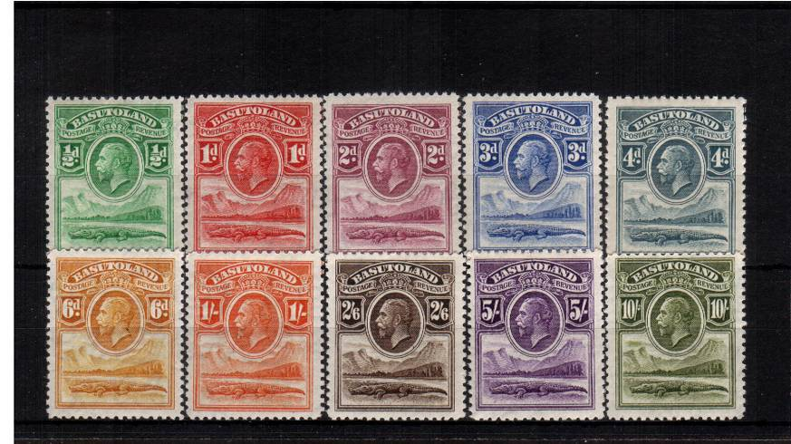 The first set of ten superb unmounted mint. A rare set unmounted.