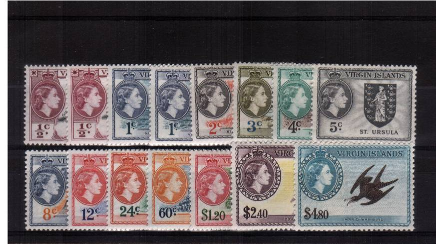 A superb unmounted mint set of thirteen with the bonus of the two additional SG listed shades.<br/>Total SG Cat £136.00