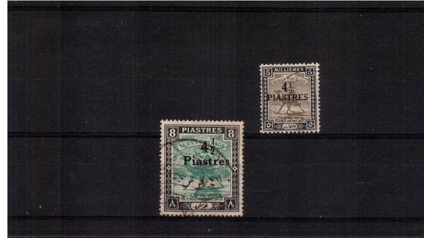 The surcharged set of two superb fine used.