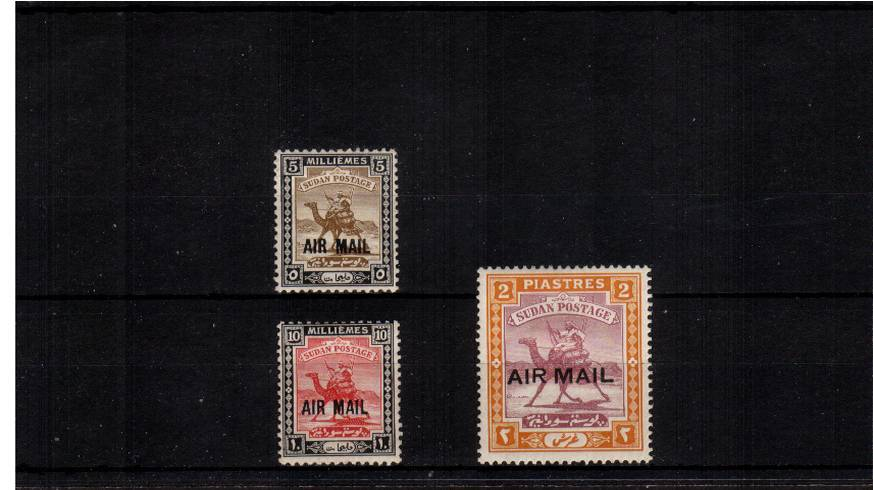 The AIR MAIL overprinted set of three good mounted mint.