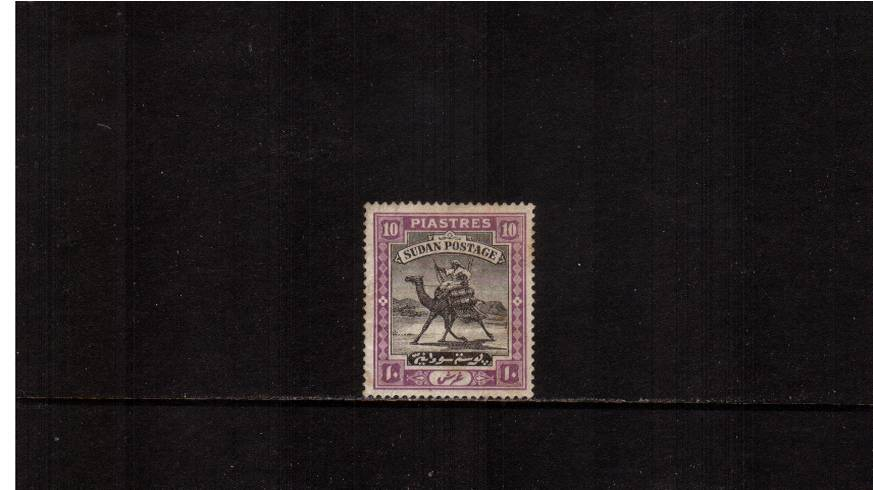 10p Black and Mauve - with Quatrefoil watermark.<br/>