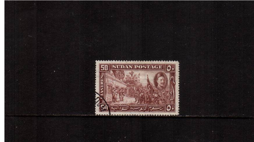 50p Red-Brown - Death of General Gordon single<br/>