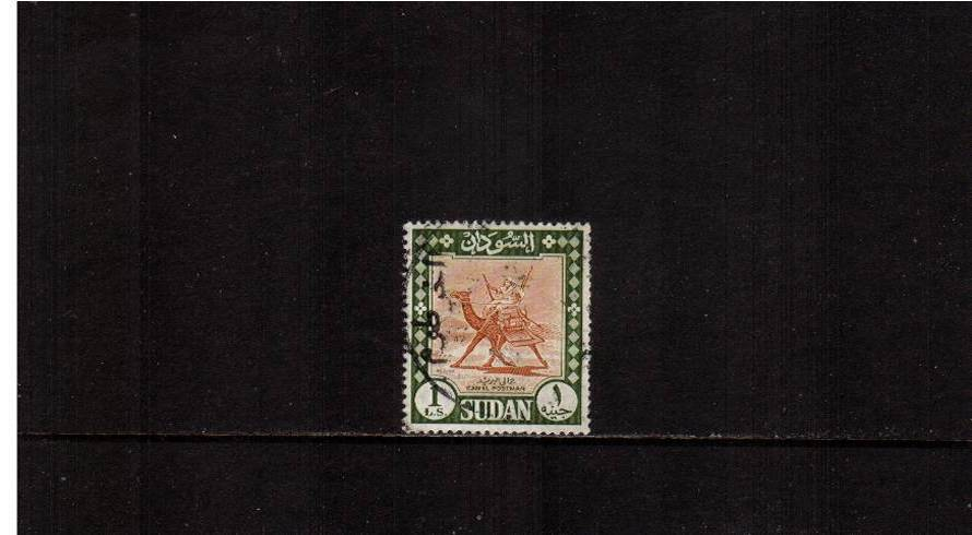 1 Orange-Brown and Deep Olive - Watermarked.<br/>A fine used single.