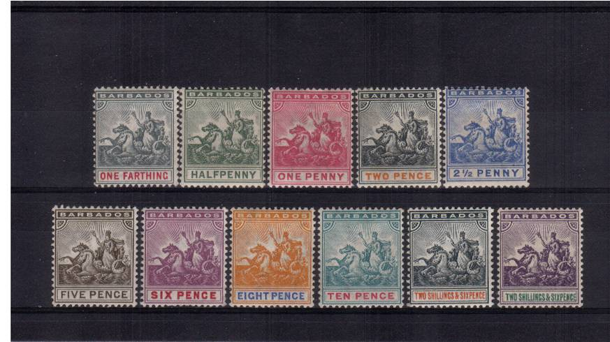 The ''Seal of Colony'' set of eleven in exceptional very lightly mounted mint condition. 