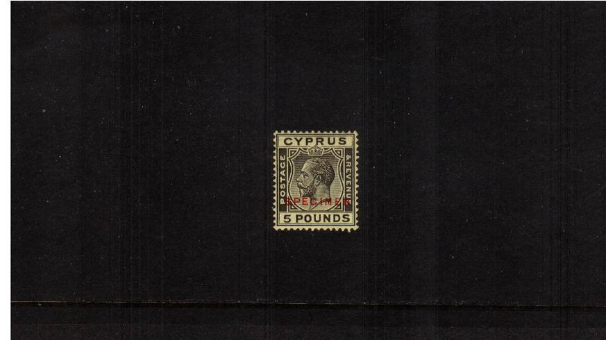 The £5 Black on Yellow<br/>