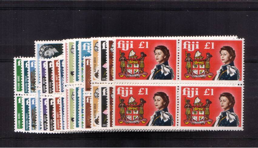 A superb unmounted mint set on seventeen in superb unmounted mint blocks of four.