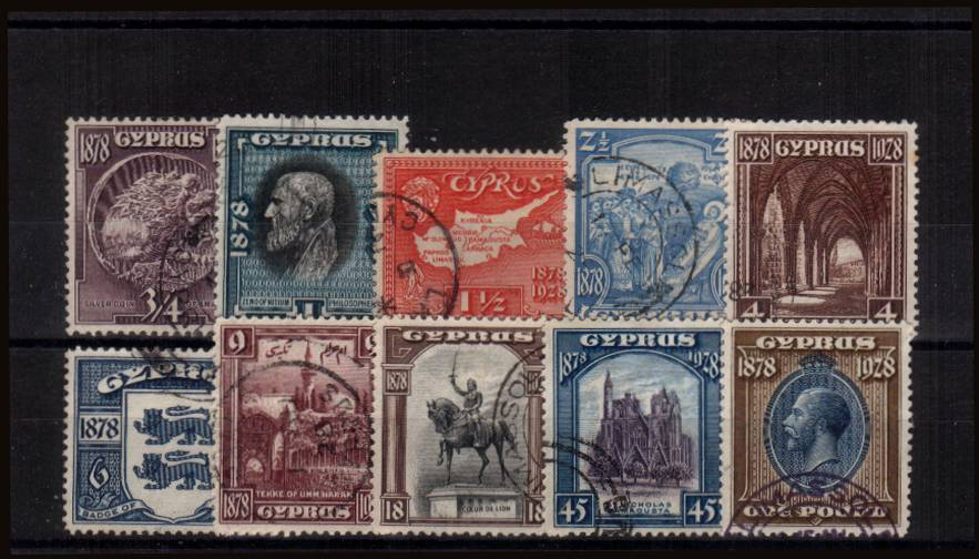 The 50th Anniversary of British Rule set of ten superb fine used<br/>A difficult set to find fine used.<br/><b>QGQ</b>