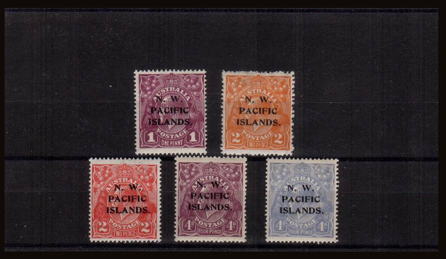 The ''N.W. PACIFIC ISLANDS'' colour change set of five superb unmounted mint.