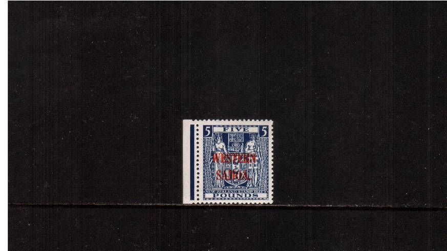 �Indigo-Blue Postal Fiscal stamp<br/>