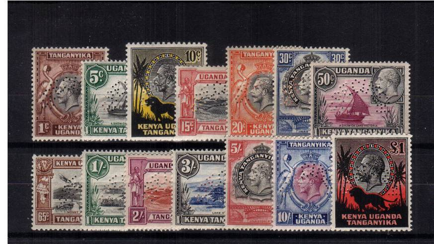The George 5th complete set of fourteen perfined ''SPECIMEN''. Stunning!