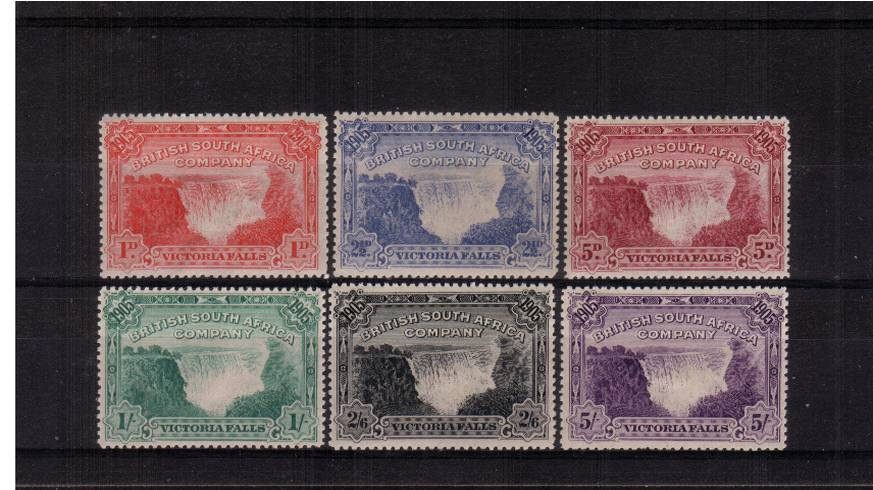 The Victoria Falls set of six good mounted mint.<br/>A very fresh set in above average condition!