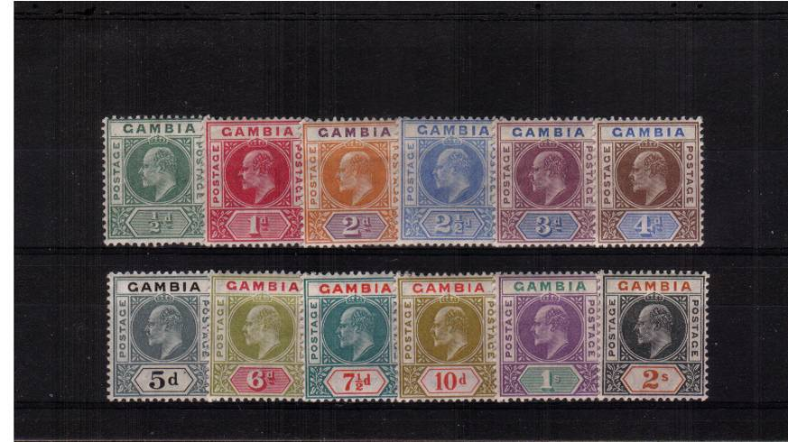 The Multiple Crown CA set of twelve lightly mounted mint.