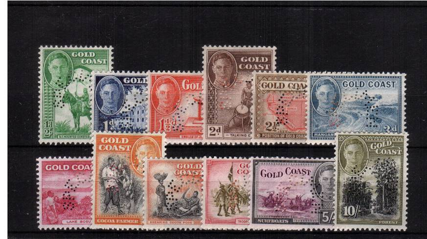 The George 6th Definitive set perfined ''SPECIMEN'' fine mounted mint. SG Cat �5