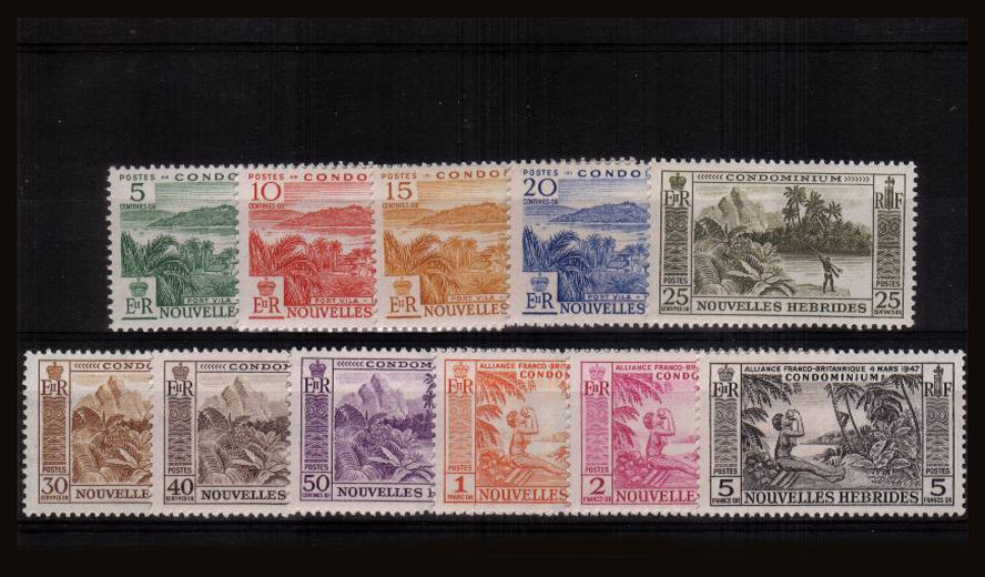 A superb unmounted mint set of eleven.