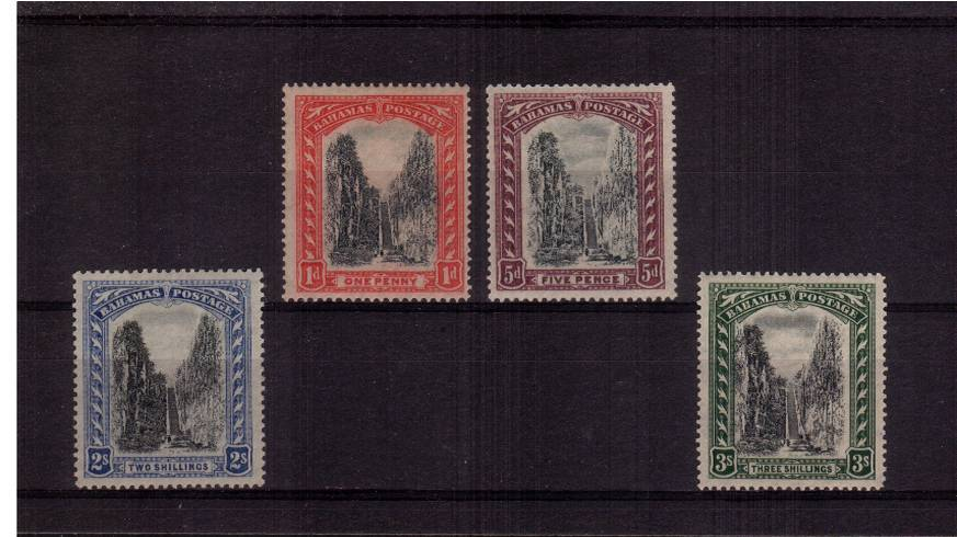 A fine very lightly mounted mint set of four.