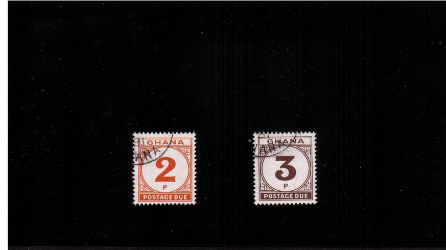 A superb fine used set of two.  Scarce!