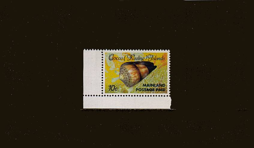 (43c) on 10c MAINLAND POSTAGE  Seashell single.<br/>