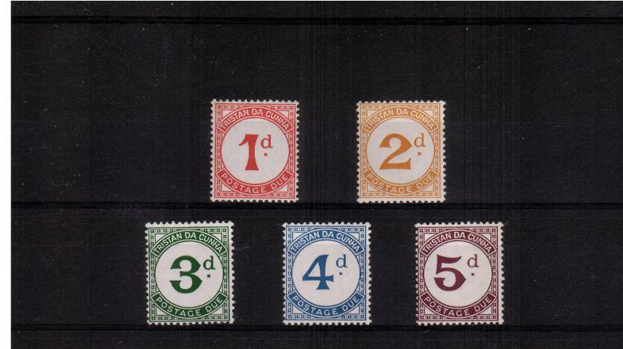 Complete POSTAGE DUE set of five lightly mounted mint.