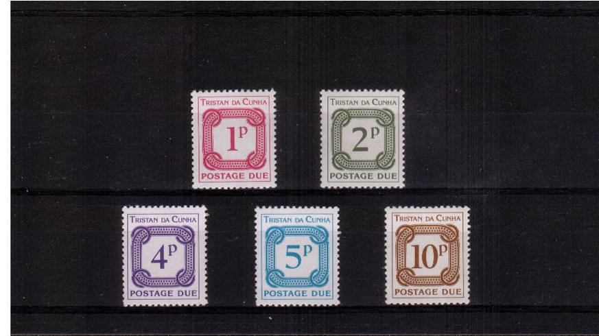 Complete POSTAGE DUE set of five<br/>