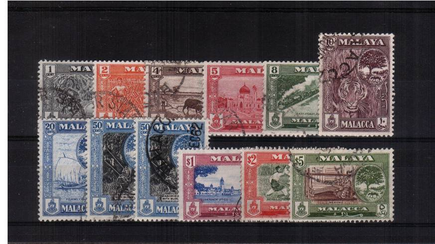 A superb fine used set of eleven  with the addition of the 50c SG listed shade. 