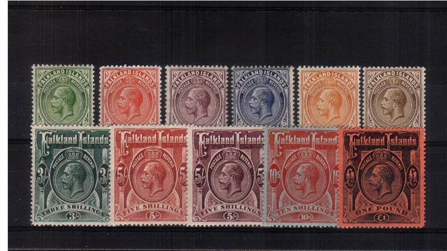 A fine lightly mounted mint set of eleven with the £1 value with a trace of a hinge mark. Exceptional quality! SG Cat £1000