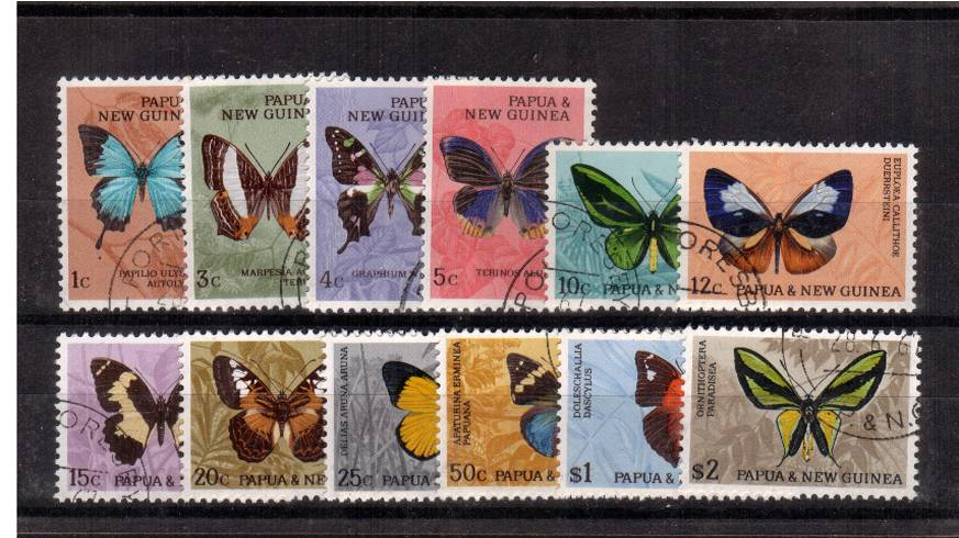 The Butterflies set of twelve superb fine used
