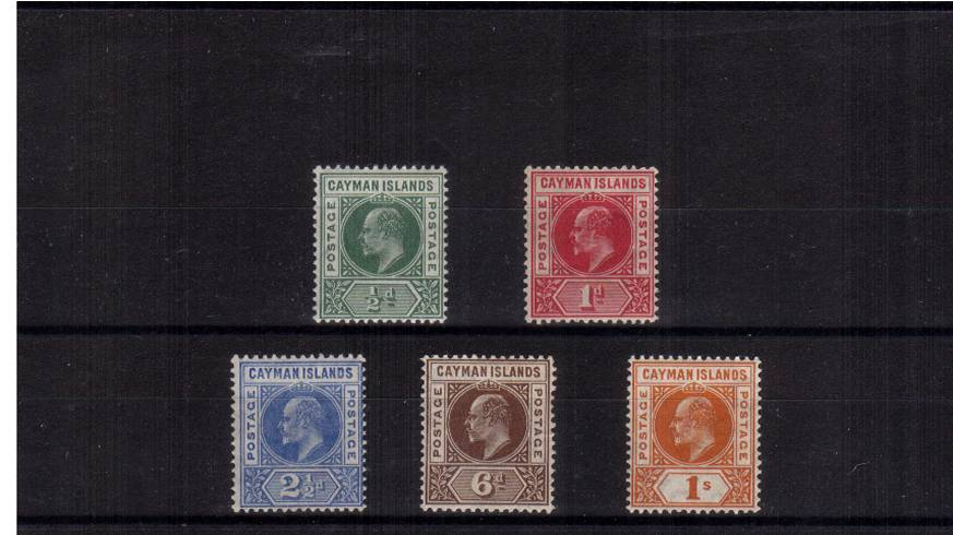 The Edward 7th set of five superb UNMOUNTED MINT. A very rare set to find in this beautiful condition.