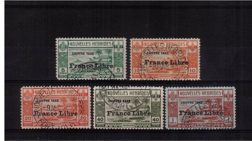 A superb fine used set of five each stamp with a selected correct cancel.