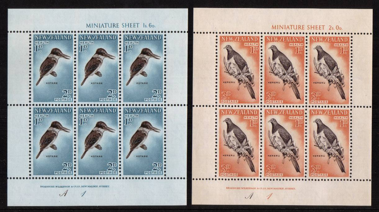 Health pair of sheets - Birds superb unmounted mint.<br/><b>QSQ</b>