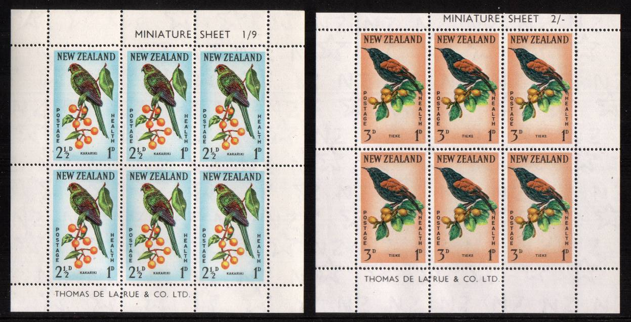 Health pair of sheets - Birds - superb unmounted mint.<br/><b>QSQ</b>