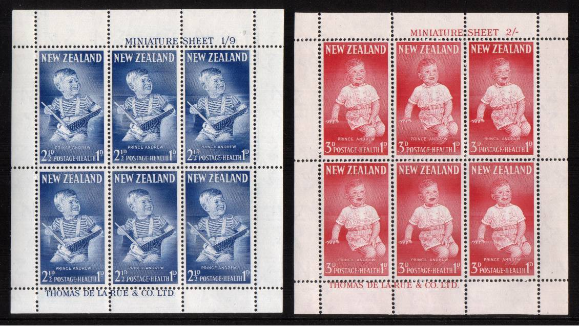 Health pair of sheets - Prince Andrew superb unmounted mint.<br/><b>QSQ</b>