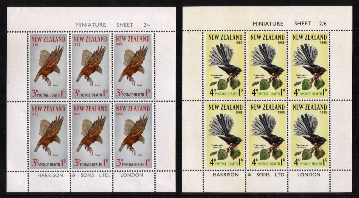 Health pair of sheets - Birds superb unmounted mint <br/><b>QSQ</b>