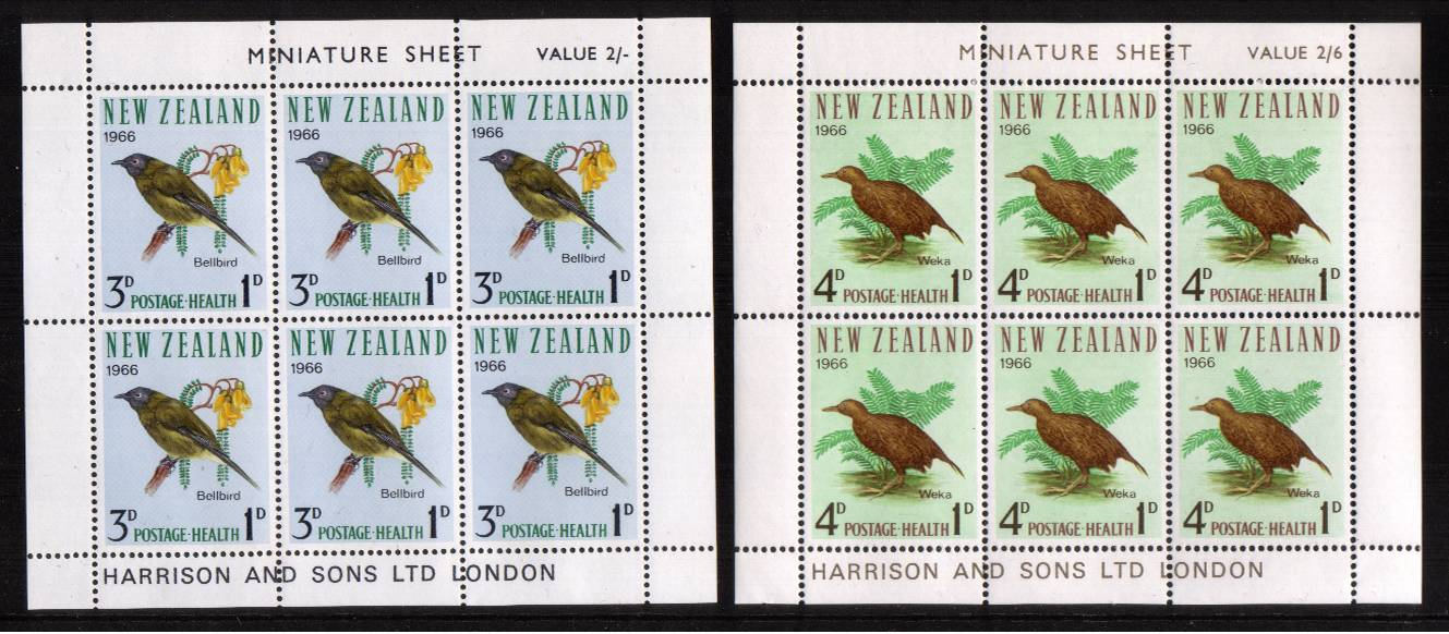Health pair of sheets - Birds superb unmounted mint<br/><b>QSQ</b>