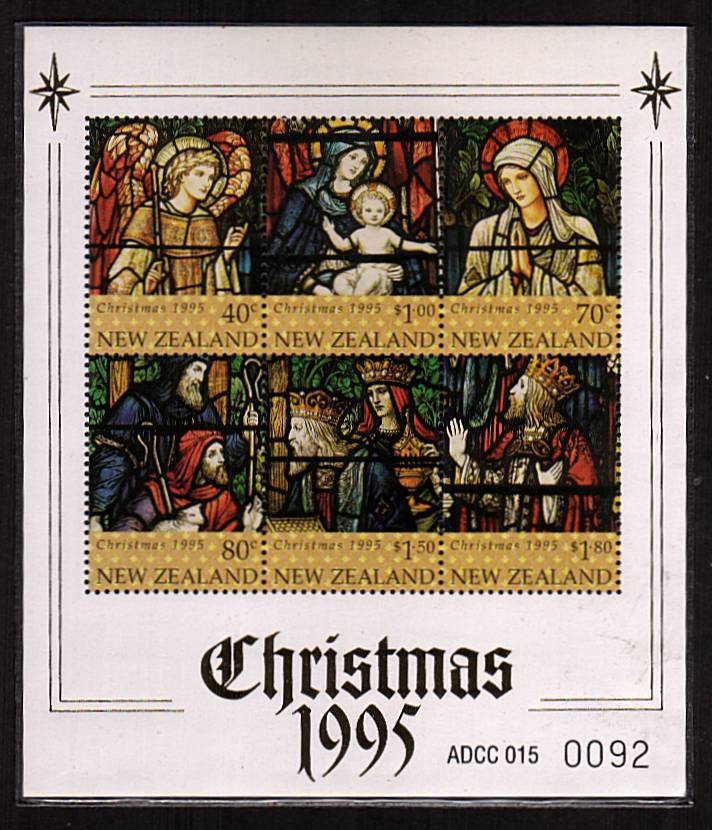 The rare, limited edition Christmas 1995 minisheet only issued in a pack costing NZ$115 superb unmounted mint in original plastic sleeve.<br/><b>QSQ</b>