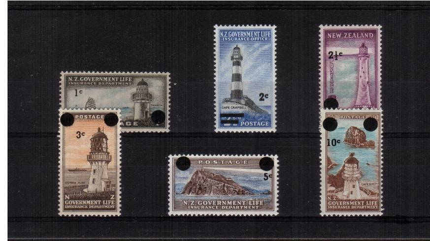Lighthouses - A good mounted mint set of six.<br/><b>QSQ</b>