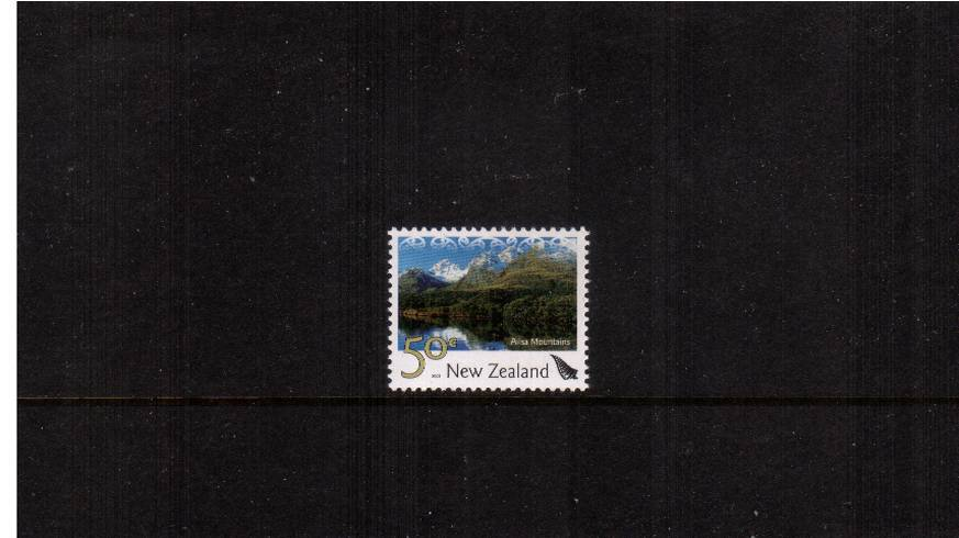 50c Ailsa Mountains definitive single<br/>showing a SILVER frond superb unmounted mint from a limited print run.